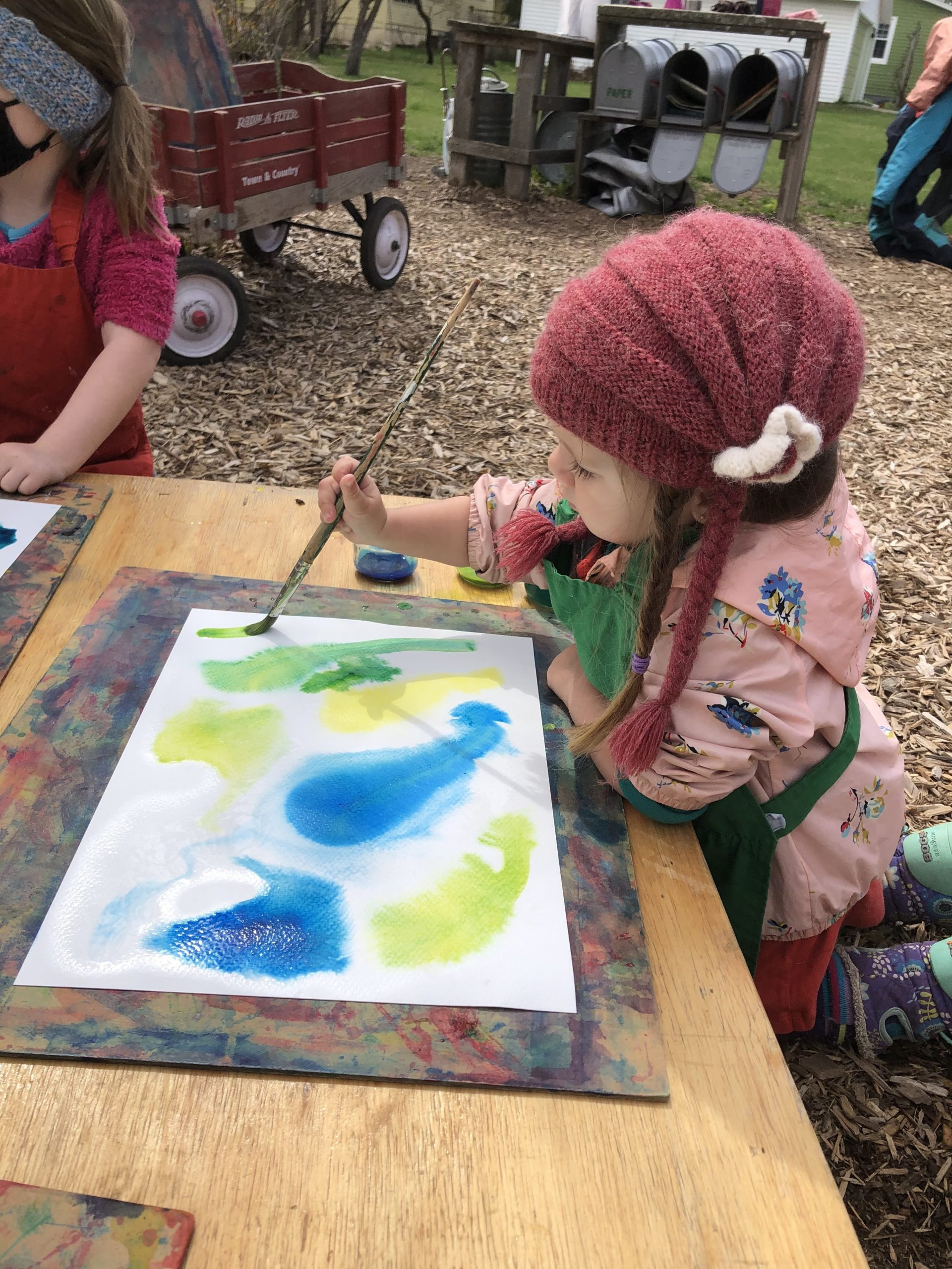 Water Color Painting Outside
